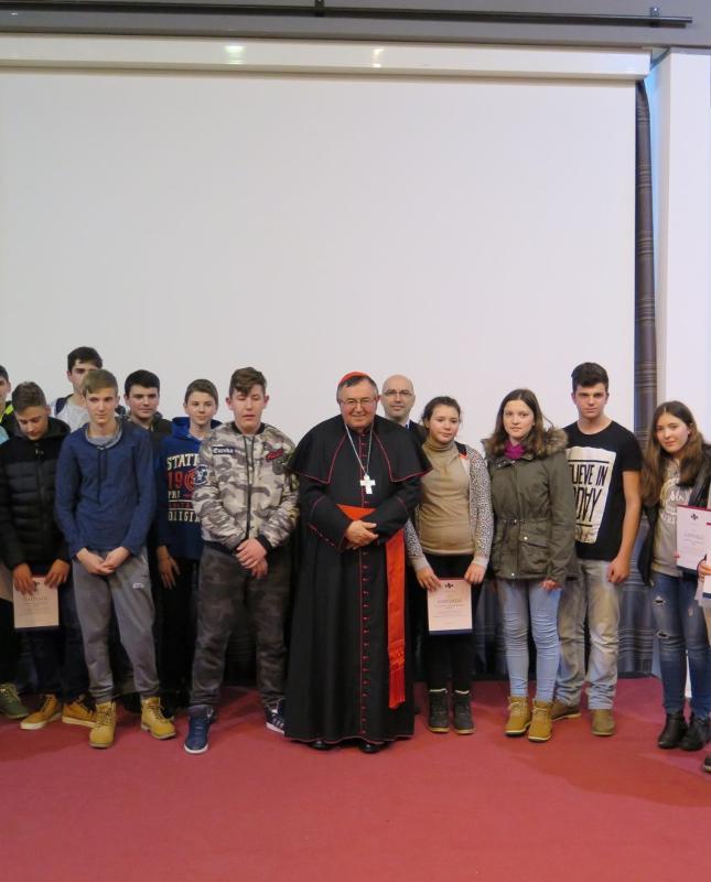 Kardinal Vinko Puljić u Školi mira - Istaknuta
