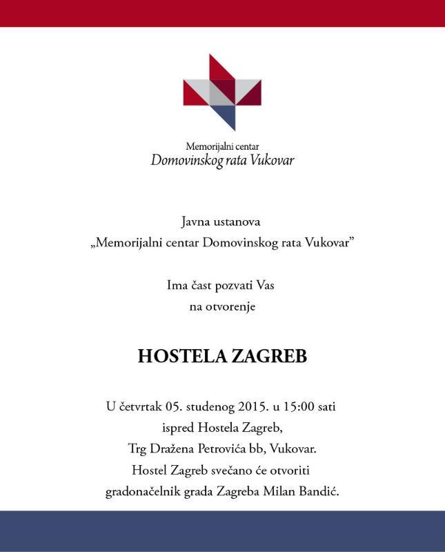 Poziv na otvorenje Hostela Zagreb - Istaknuto